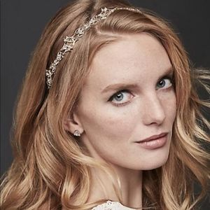 David's Bridal Filigree Crystal Tieback Headband